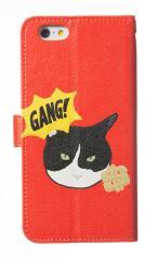 iPhone7対応の手帳型ケース、GANG CAT