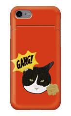 iPhone7対応のミラーつきケース、GANG CAT