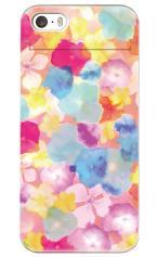 iPhoneSE対応のミラーつきケース、Sweet Flowers