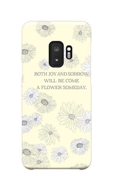 Galaxy S9のケース、ふんわりガーベラ・フラワー【スマホケース】