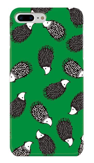 iPhone8 Plusのケース、ハリネズミさん集合【スマホケース】
