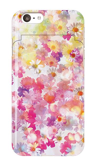 iPhone6sのミラー付きケース、木漏れ日フラワー【スマホケース】