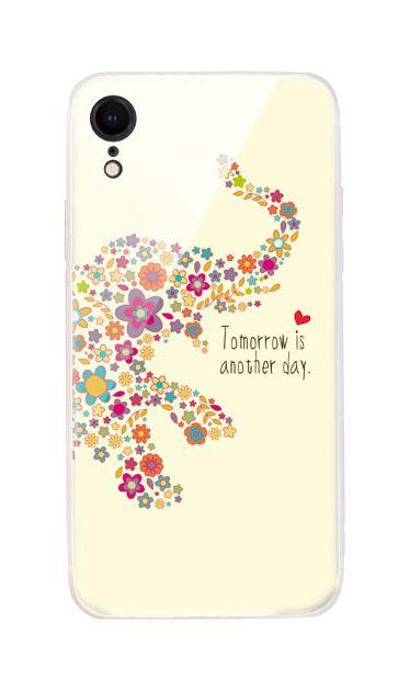 iPhoneXRのケース、フラワーゾウさん【スマホケース】
