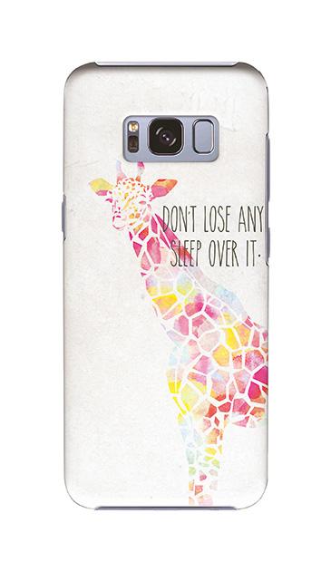 Galaxy S8のケース、やさしいキリン【スマホケース】