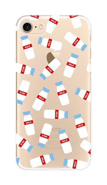 iPhone7のクリア(透明)ケース、おいしいミルク【スマホケース】