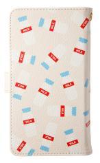 Xperia AX(SO-01E)対応の手帳型ケース、牛乳屋さん