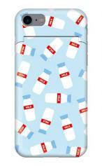 iPhone7対応のミラーつきケース、牛乳屋さん