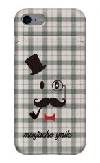 iPhone7対応のミラーつきケース、mustache smile