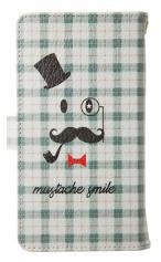 Xperia AX(SO-01E)対応の手帳型ケース、mustache smile