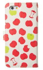 iPhone7対応の手帳型ケース、食べかけリンゴ