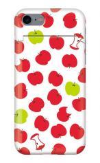iPhone7対応のミラーつきケース、食べかけリンゴ