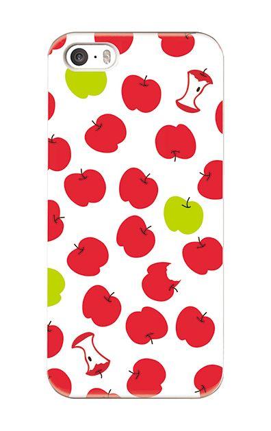 iPhoneSEのケース、食べかけリンゴ