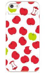iPhoneSE対応のミラーつきケース、食べかけリンゴ