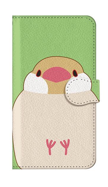 iPhone7の手帳型ケース、ふくふく文鳥【スマホケース】
