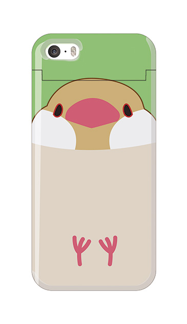 iPhone5Sのミラー付きケース、ふくふく文鳥【スマホケース】