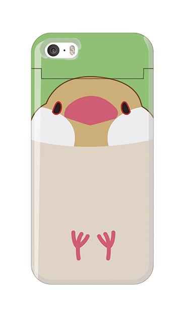 iPhoneSEのケース、ふくふく文鳥【スマホケース】