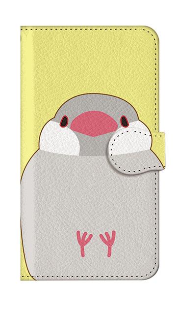 iPhoneSEの手帳型ケース、ふくふく文鳥【スマホケース】