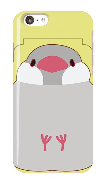 iPhone6sのミラー付きケース、ふくふく文鳥【スマホケース】