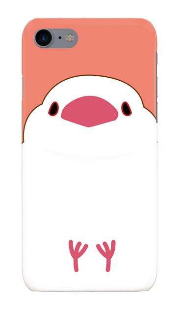 iPhone8のハードケース、ふくふく文鳥【スマホケース】