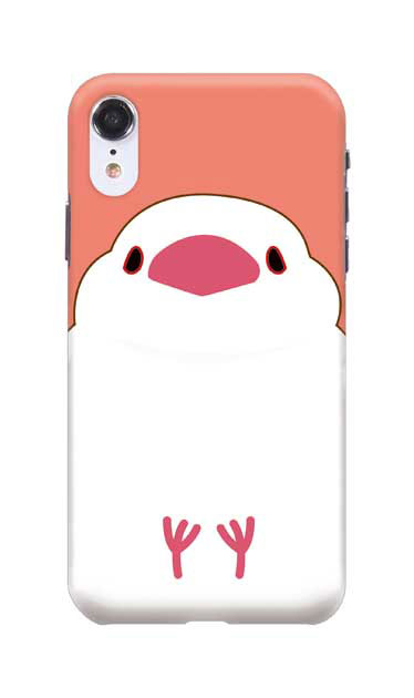 iPhoneXRのハードケース、ふくふく文鳥【スマホケース】