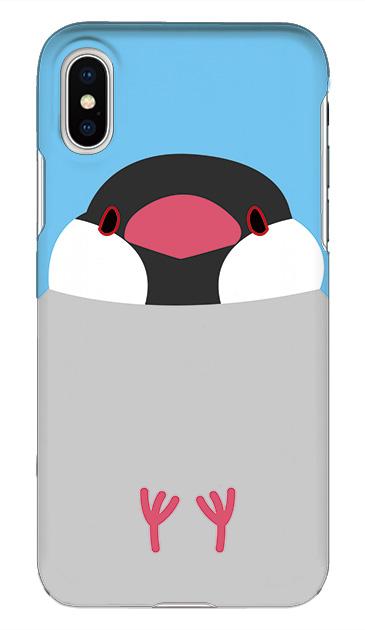 iPhoneXSのケース、ふくふく文鳥【スマホケース】