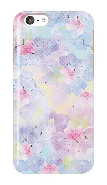 iPhone6sのミラー付きケース、砂糖菓子あじさいフラワー【スマホケース】