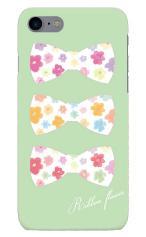 iPhone7対応のツヤ有りケース、Ribbon Flower