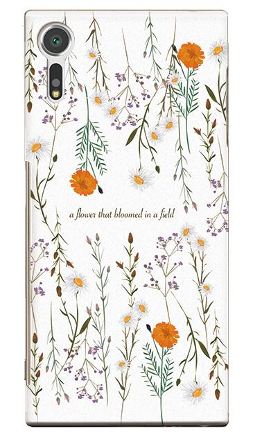 XperiaTM XZsのケース、フィールドに咲く花