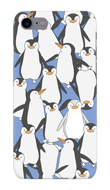 iPhone7のケース、ペンギン大集合【スマホケース】
