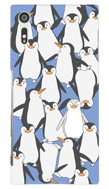 Xperia XZのケース、ペンギン大集合【スマホケース】
