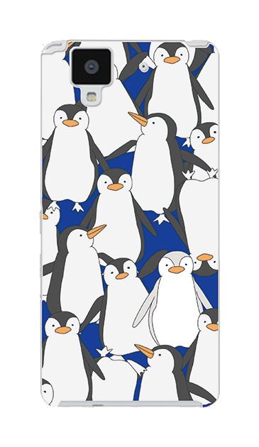 ARROWS NXのケース、ペンギン大集合【スマホケース】