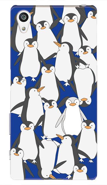 Xperia Z5のハードケース、ペンギン大集合【スマホケース】