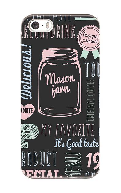 iPhoneSEのケース、Mason jarn