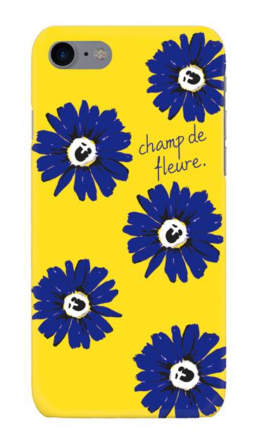iPhone8のハードケース、champ de fleure ガーベラ・フラワー【スマホケース】