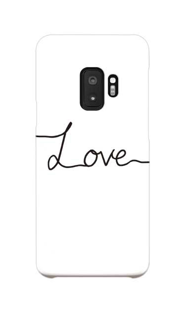 Galaxy S9のケース、「Love(愛)」【スマホケース】