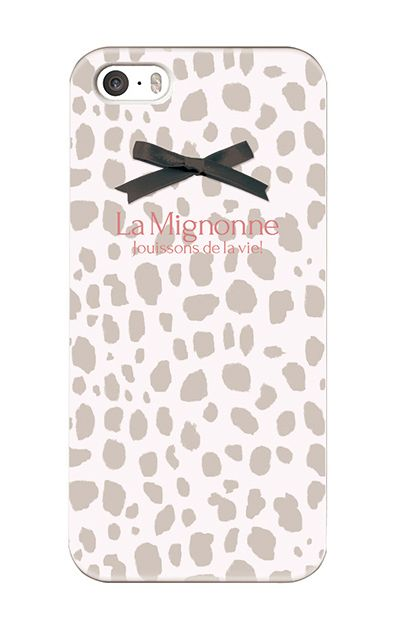 iPhoneSEのケース、La Mignonneダルメシアン【スマホケース】