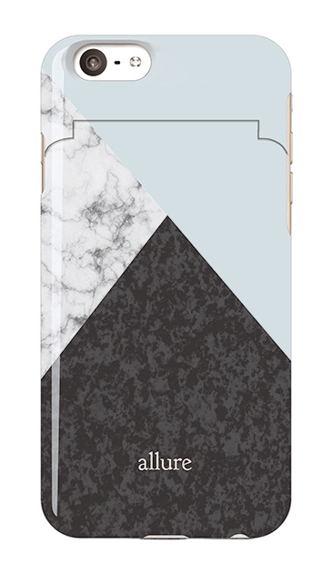 iPhone6sのミラー付きケース、marbleパレット【スマホケース】