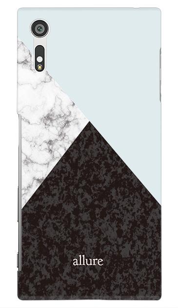 Xperia XZのケース、marbleパレット【スマホケース】