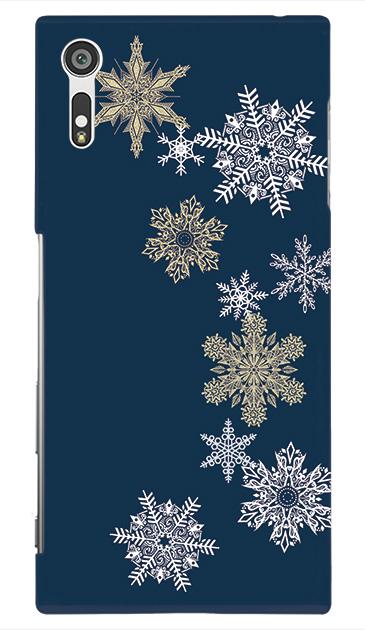 Xperia XZのケース、雪の結晶【スマホケース】