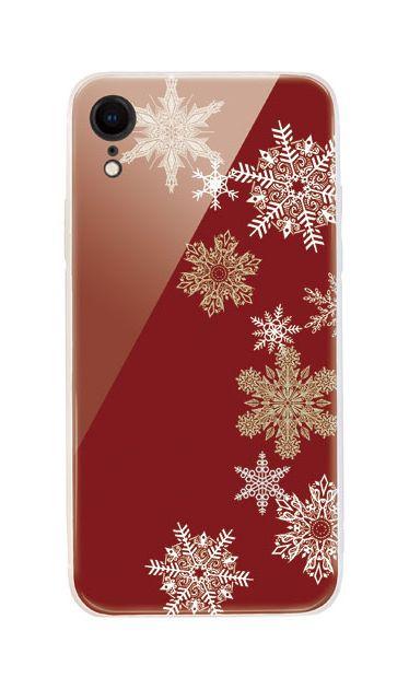 iPhoneXRのケース、雪の結晶【スマホケース】