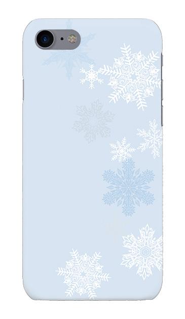 iPhone7のハードケース、雪の結晶【スマホケース】