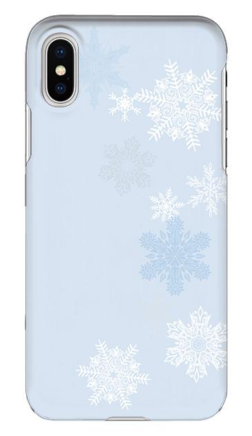 iPhoneXSのハードケース、雪の結晶【スマホケース】