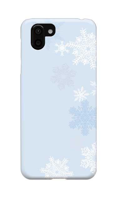 AQUOS R2のケース、雪の結晶【スマホケース】