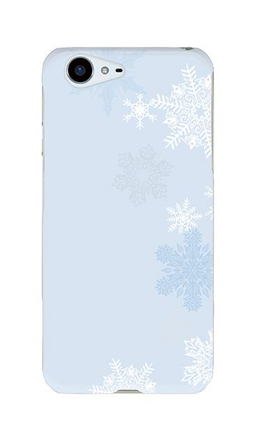AQUOS ZETAのケース、雪の結晶【スマホケース】