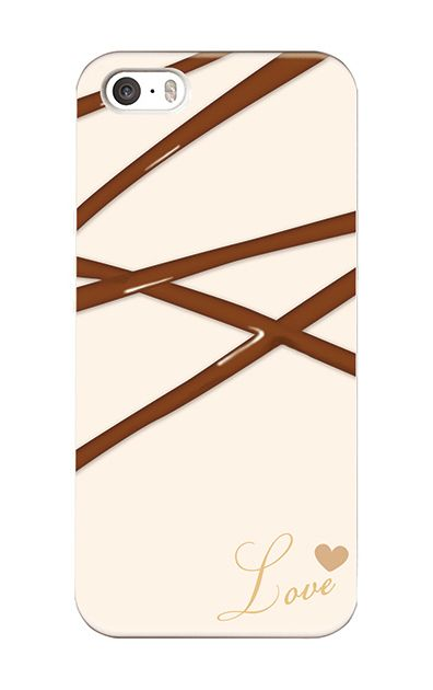 iPhoneSEのハードケース、デコレーションチョコレート【スマホケース】
