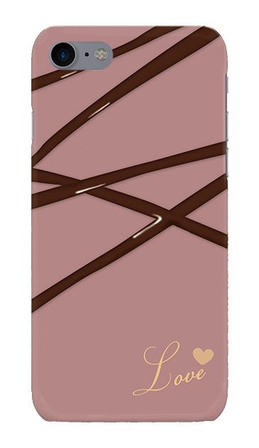iPhone8のハードケース、デコレーションチョコレート【スマホケース】