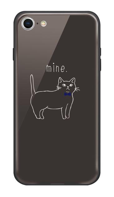 iPhone7のケース、蝶ネクタイねこ【スマホケース】