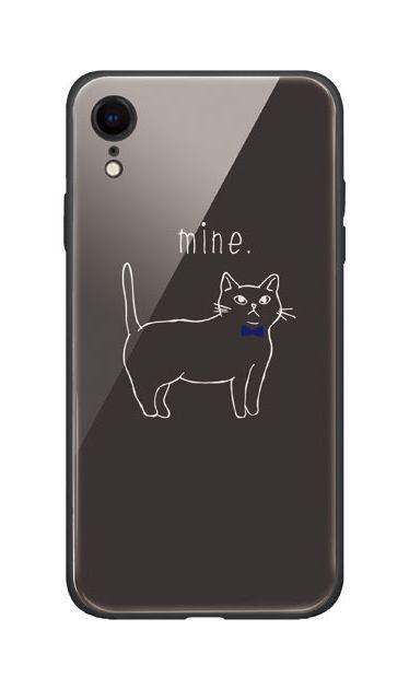 iPhoneXRのケース、蝶ネクタイねこ【スマホケース】