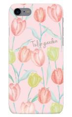 iPhone7対応のツヤ有りケース、Tulip garden