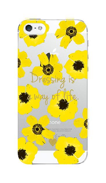 iPhone5Sのクリア(透明)ケース、アネモネ・フラワー【スマホケース】